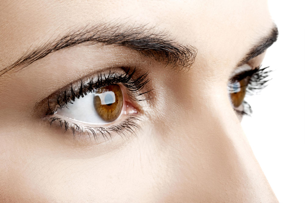 A closeup of women eyes recovering after LASIK eye surgery