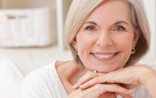 Attractive senior woman who have had best corrective eye surgery